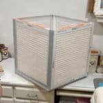 Cube with air filters for diy air filter