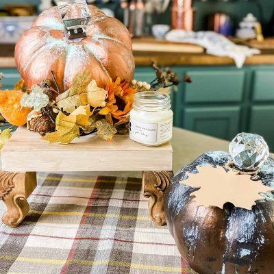 Copper and Bronze Patina Pumpkins